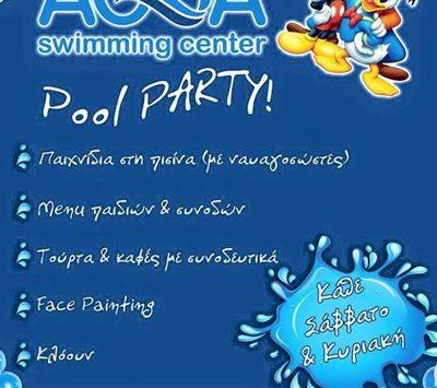 Aqua pool party